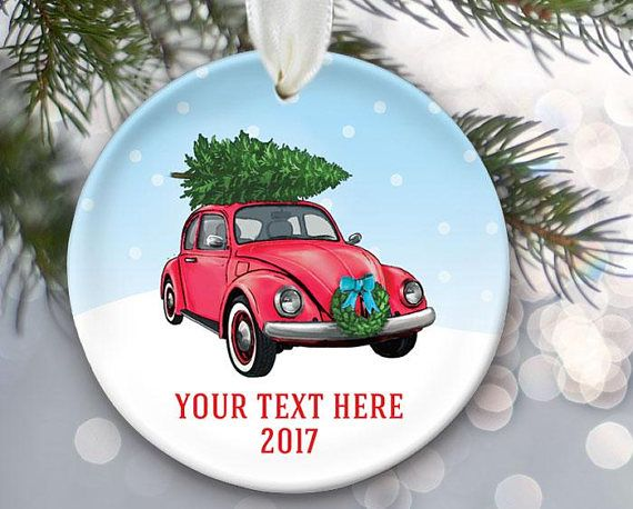 Volkswagen Beetle Ornament Vw Car With Christmas Tree On Top Etsy Volkswagen Beetle Vw Bug Vw Cars