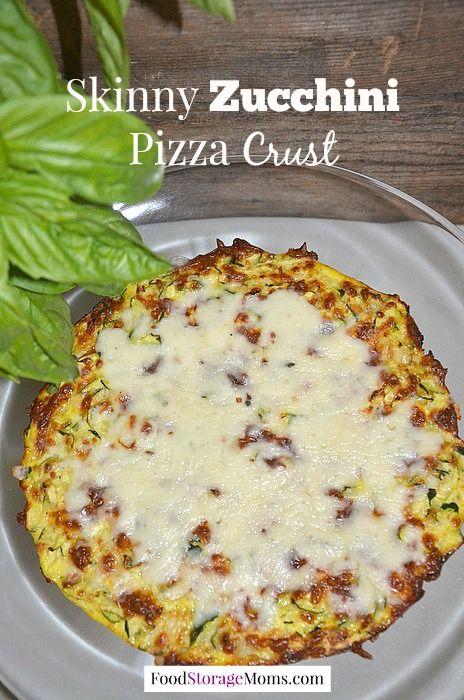 Skinny Zucchini Pizza Crust | via www.foodstoragemoms.com