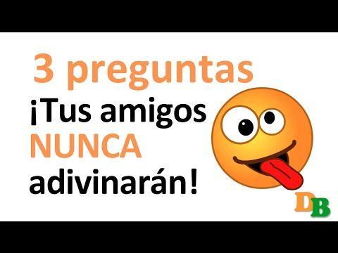 ¡¡Imposible!! 3 adivinanzas tus amigos nunca adivinarán! (adivinanzas cortas con respuestas) - YouTube