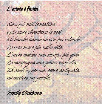 L'estate è fredda - Emily Dickinson