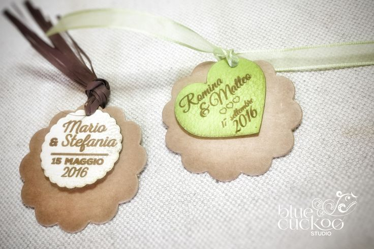 50 customized wedding faux leather tags for wedding favor and invitations di bluecuckoostudio su Etsy