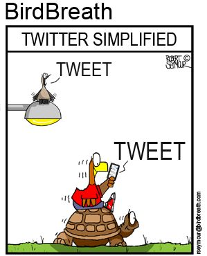 Twitter Simplified #twitter #tweet #bird cartoon