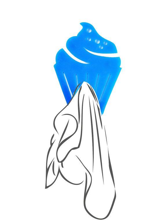Sale! light blue kithchen decor FREE SHIPPIMG - Cupcakes Hook magnet  hand towel holder -Magnet hook for hanging a towel on the refrigerator