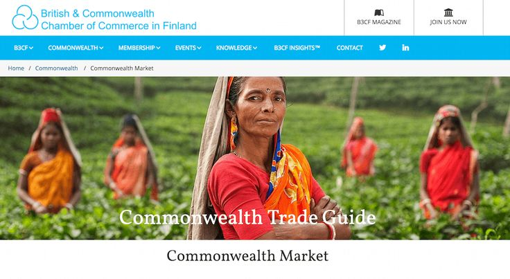 Commonwealth market offers a wide range of opportunities to Finnish businesses in all sectors - from Agriculture to Information Technology.