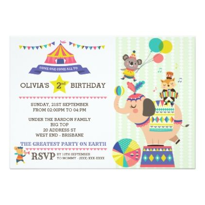 Carnival Birthday Party Invitation - birthday invitations diy customize personalize card party gift
