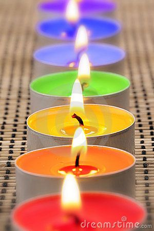 Rainbow candles by Grafner, via Dreamstime
