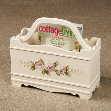 Audrey Rose Magazine Rack..this would be cute in a little girl's room to hold her favorite story books.