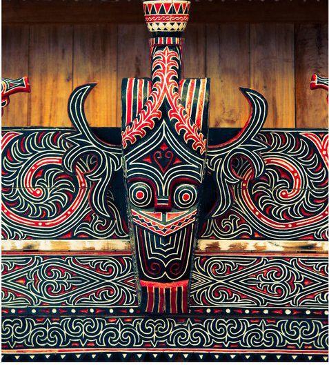 Buffalo Ornament | Hiasan dan ornamen khas batak yang terdapat pada pinggiran rumah adat Batak. #PINdonesia