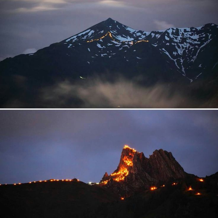 "Appartements Stockinger: ""Berge in Flammen"" - ""mountains on fire"""