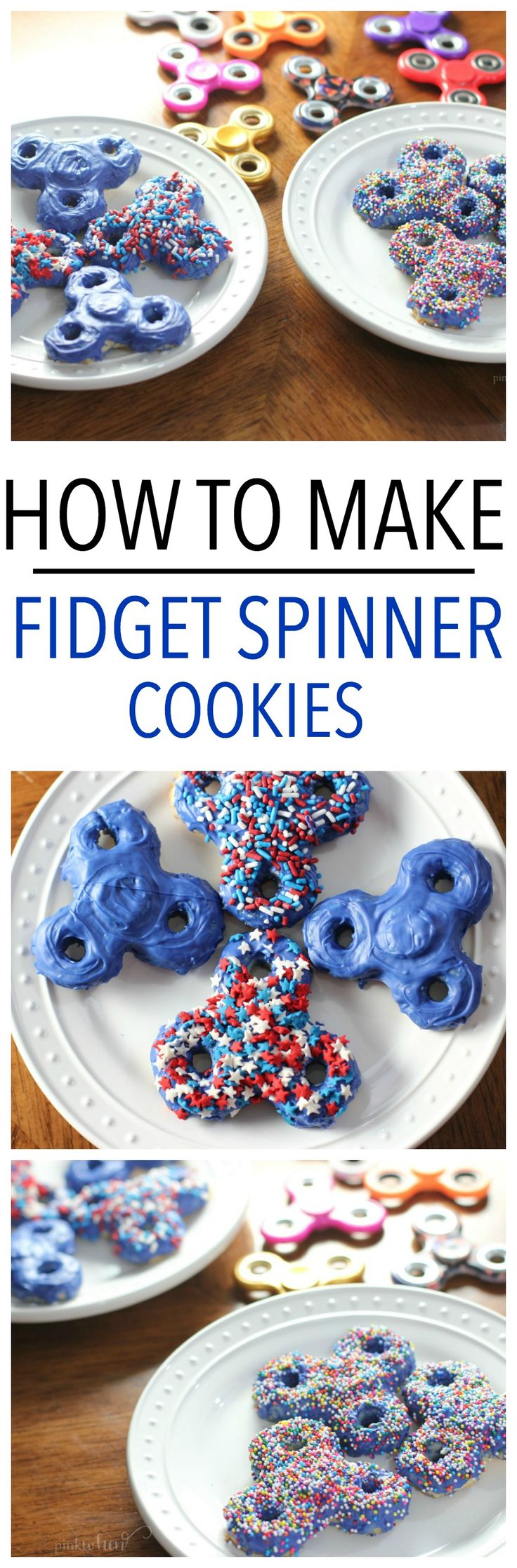 Fidget Spinner Cookies! It's the biggest Summer craze, and we are sharing our trick on how to make the BEST Fidget Spinner Cookies in these easy to follow videos!