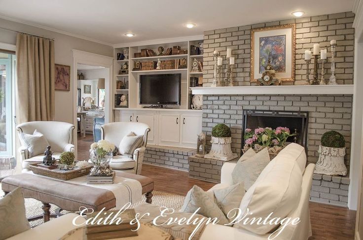 Family Room In A Vintage French Country Home Transforming A Family