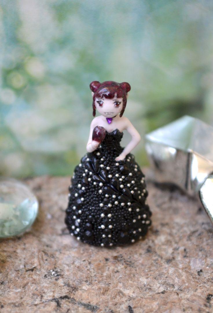 "Miniature ""Vampire"", Dollhouse Miniature Figure, Mini Doll, Interior Doll, Small Dolls for Dollhouse, Collectible Dolls, Tiny doll, Anime"