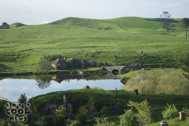 The Green Dragon Inn and Hobbiton Mill. (On location filming for The Hobbit in New Zealand.)
