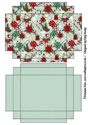 A pretty christmas patterned gift box with lid for your gifts