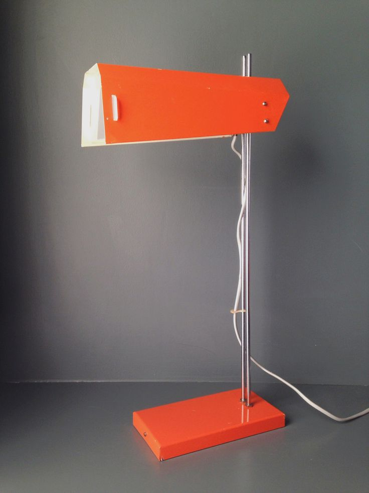 Vintage Josef Hurka Orange Desk Lamp – Homeplace