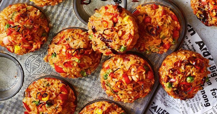 For make-ahead magic and easy freezing, you can't look past these kid-friendly fried rice muffin cups.