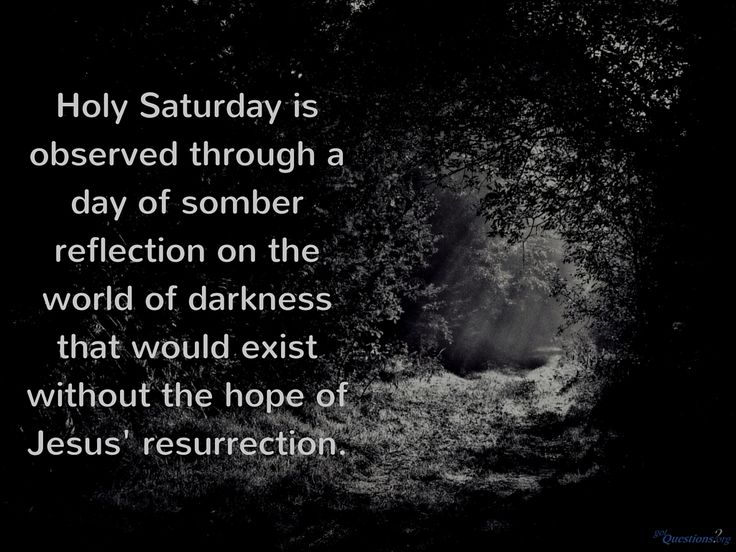 #HolySaturday is observed by many churches, but what happened this day? http://www.gotquestions.org/Holy-Saturday.html #Easter