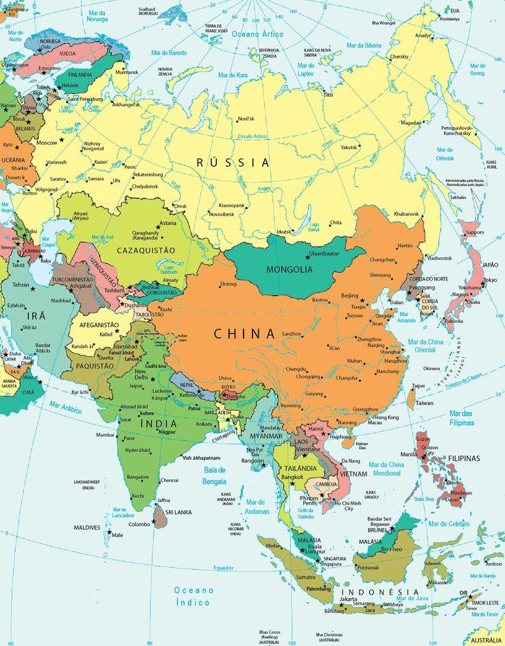 Mapa politico Asia