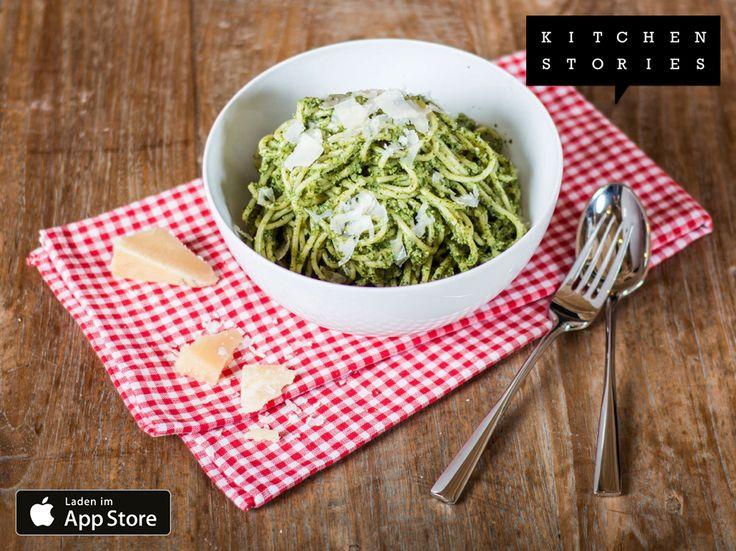"""Ich koche gerade """"Pasta Verde"""" mit @1KitchenStories - Download http://itunes.apple.com/app/id771068291"""