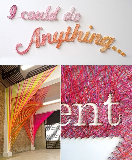 25 best string and nail wool art images on pinterest for Group craft projects for adults