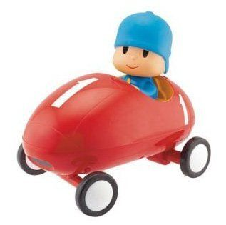 Pocoyo Bump N' Go Racing Car 24741 by Bandai. $32.25. When the car hits an obstacle, it stops, moves back and makes a u-turn. Press Pocoyo's head and off he zooms with music coming from the car. Open box package. Requires 3 AA batteries, not included. Press Pocoyo's head again and the music accelerates. From the Manufacturer                Pocoyo just loves to zoom around in his racing car. Notes: This item is only available to ship to addresses in the USA and Canada...