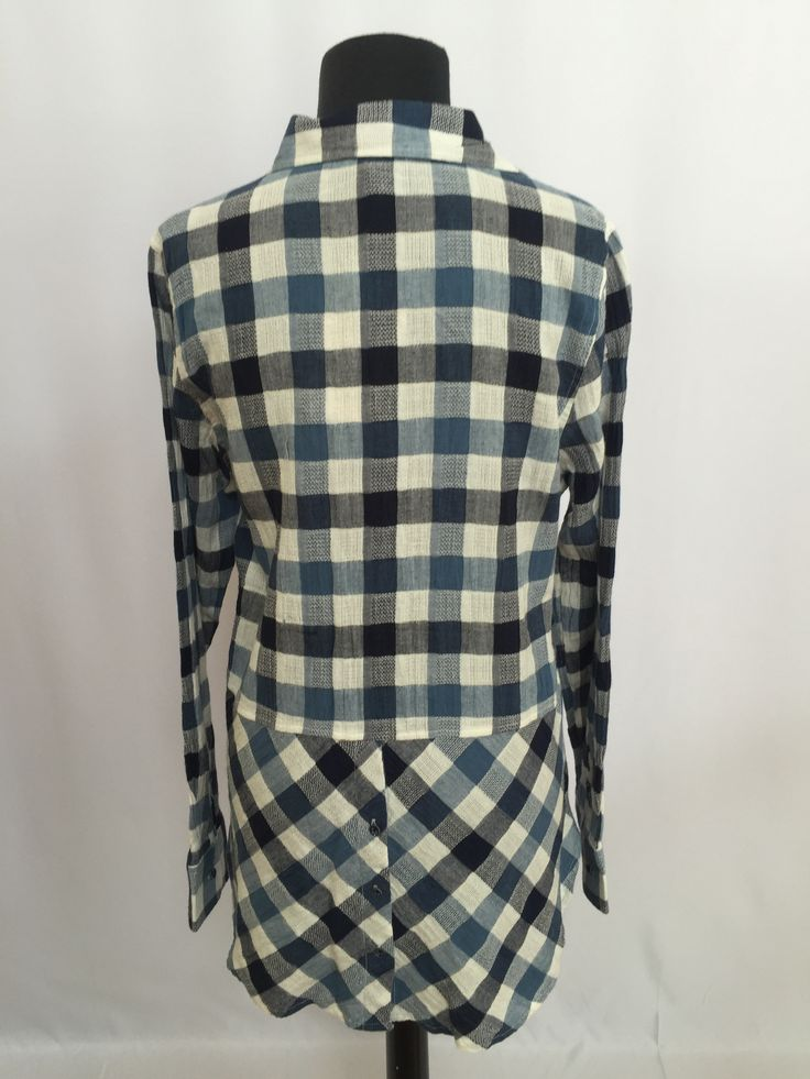 Long Sleeve Blue Plaid Button Up