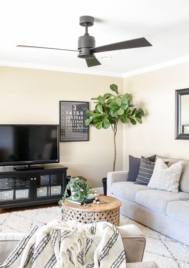 Our New Sleek And Modern Ceiling Fan Farm House Living Room Living Room Fans Living Room Ceiling Fan