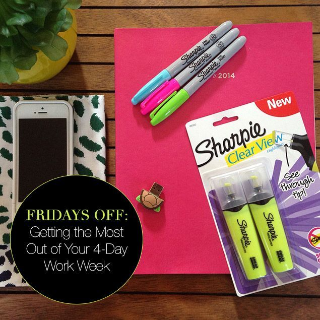 How to work smarter, not harder in a four-day work week. #sharpieclearview #PMedia @sharpie