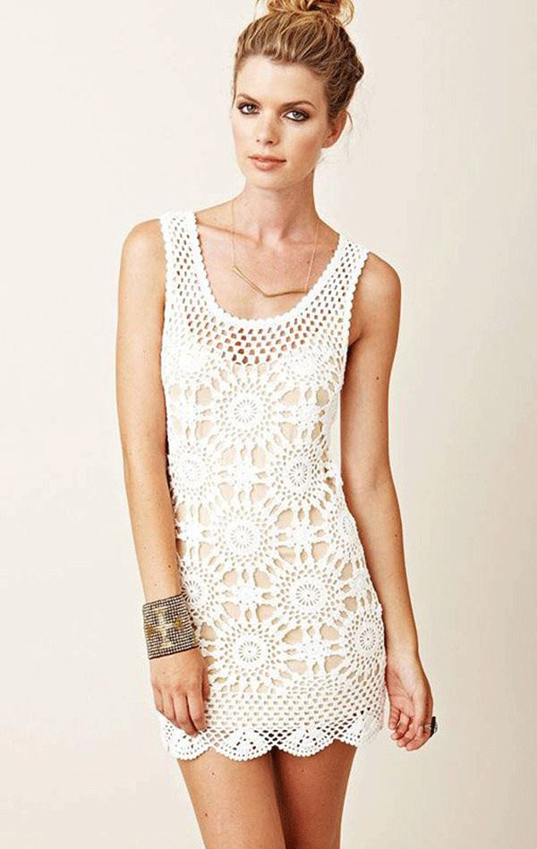 white-crochet-free without sleeves/ chart