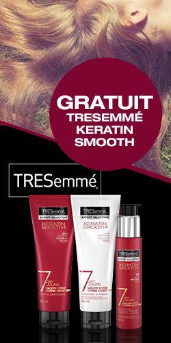 Échantillon de produits TRESemmé Fin le 24 juuillet.  http://rienquedugratuit.ca/produits-de-beaute/echantillon-tresemme/
