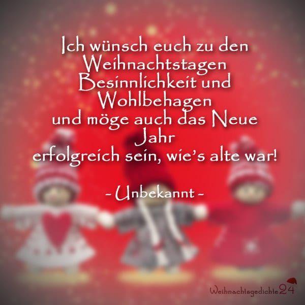 Kurze Weihnachtsgedichte Für Karten Kostenlos , Kurze ...