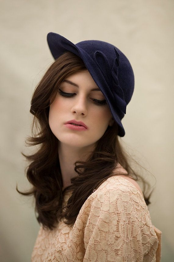 Tilt Felt Hat by MaggieMowbrayHats on Etsy, £185.00 For fall