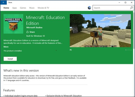 Setting up Minecraft Education Edition for students