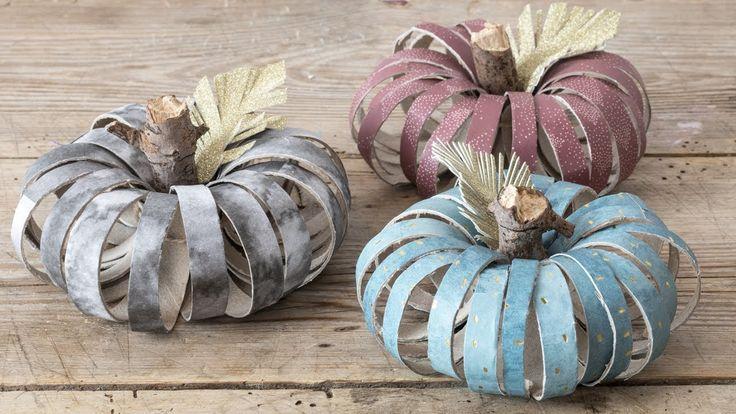 DIY : paper pumpkins. Decorate your home with DIY halloween pumpkins by Søstrene Grene