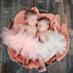 pink tutus babies