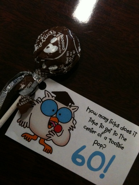 favors for 60th birthday party
