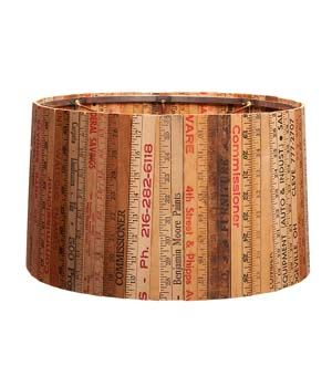 Yardsticks and Rulers Upcycled lamp shade