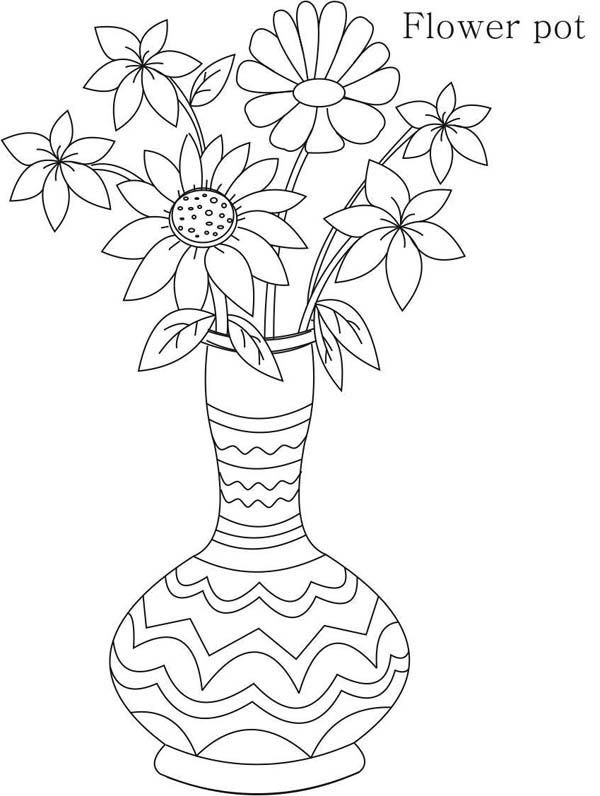 Flower Vase Drawing For Kids At Getdrawings Com Free For Personal Cute Flower Drawing Easy Flower Drawings Simple Flower Drawing