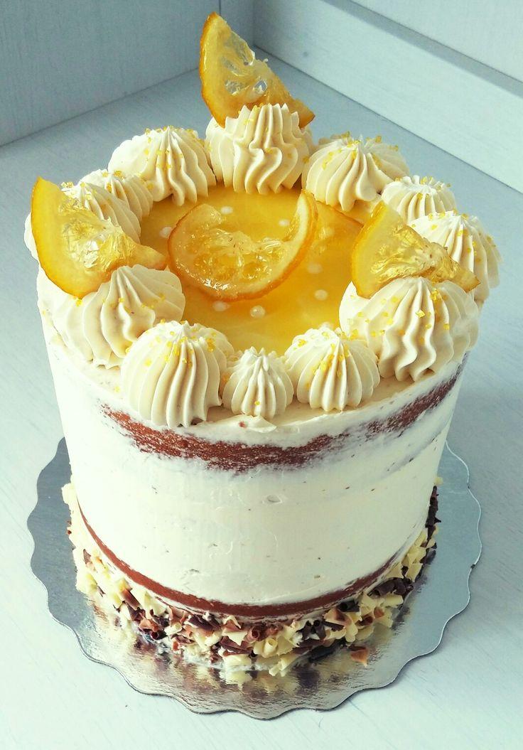 white chocolate and lemon cake