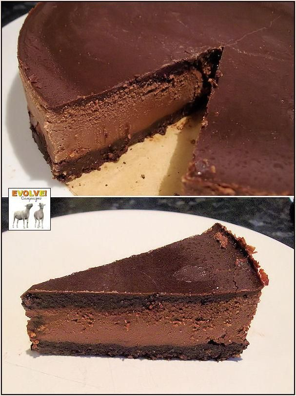 This Raw Chocolate Cheesecake really is something special! Very creamy and chocolatey and so easy to make, mmmmmm! RECIPE For the base: 1 cup pecans, ground (or mixture of pecans and walnuts...