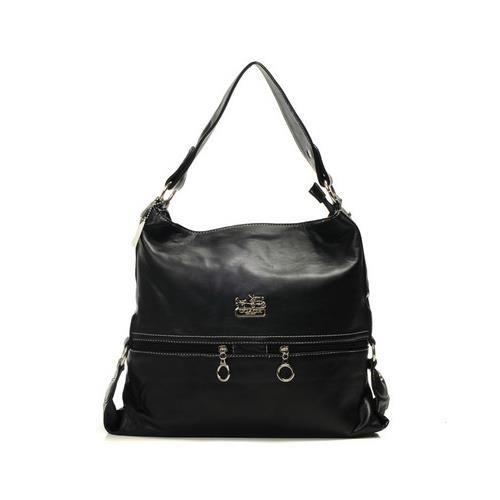 Coach Zip Logo Large Black Shoulder Bags DIK [coach 2014#1245] - $70.99 : Coach Outlet Stores - Locations of Coach Factory Stores