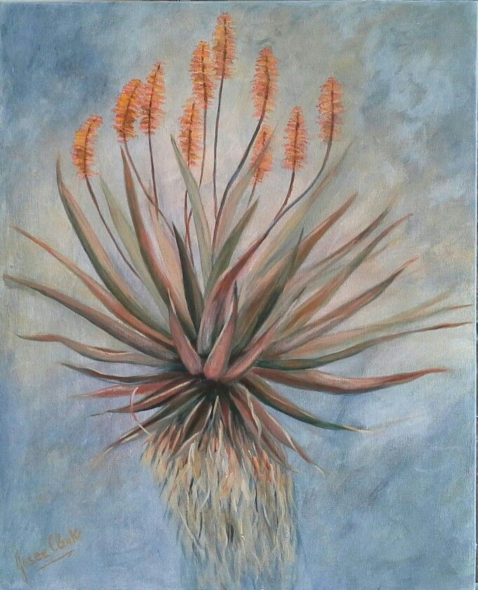 Aloe Strength - acrylic by Josee Clerk