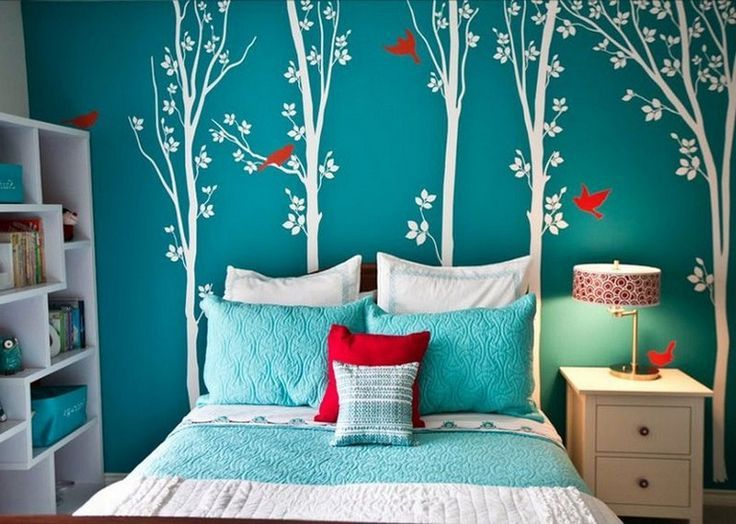 30 Beautiful Colored Bedroom Ideas For Girls Teenage Girl Turquoise Bedroom Teenage Girl Bedrooms Turquoise Room Girls Bedroom Turquoise Girls Room Paint