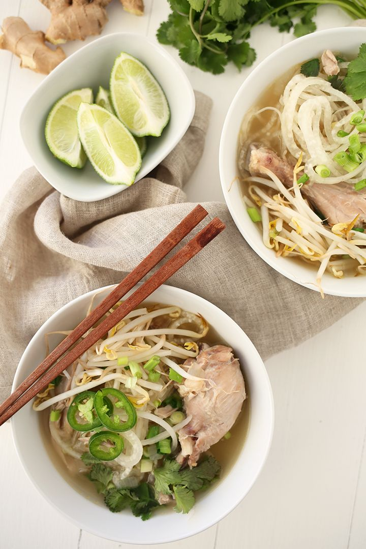 how to make easy chicken pho soup recipe
