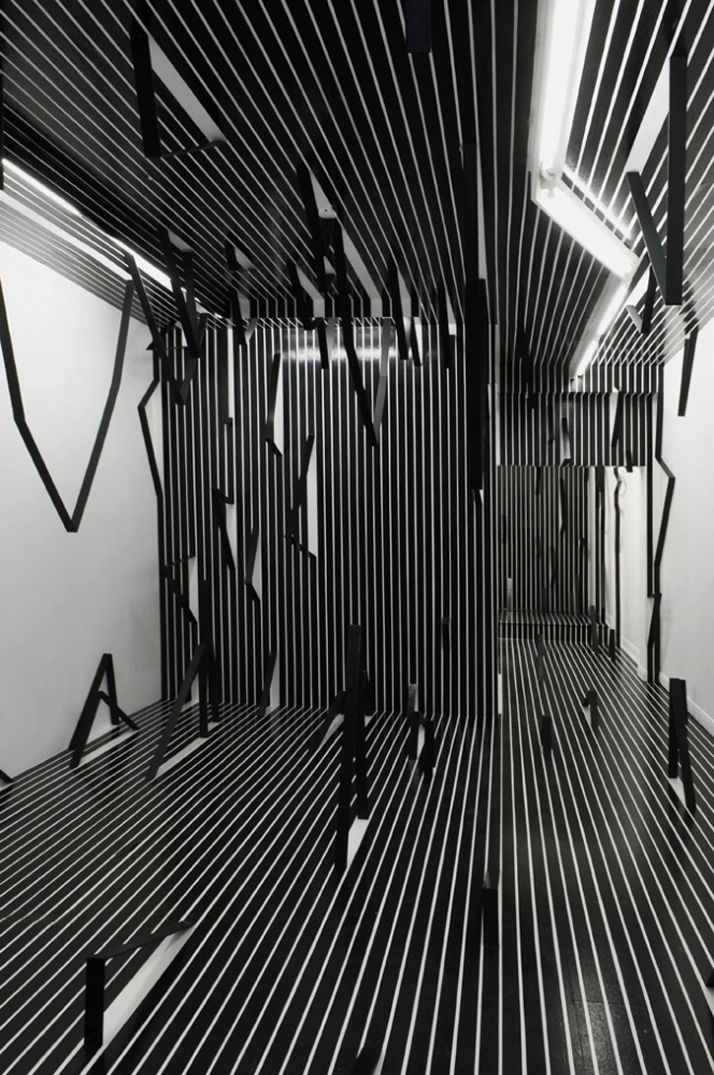 Jagged lines #retail, #installation