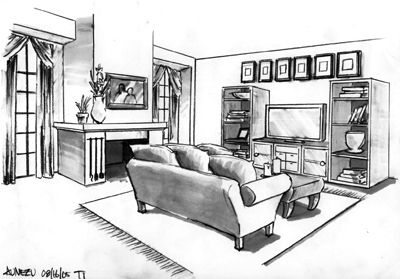 Brighton beach sketches living room sketches i like Room sketches interior design