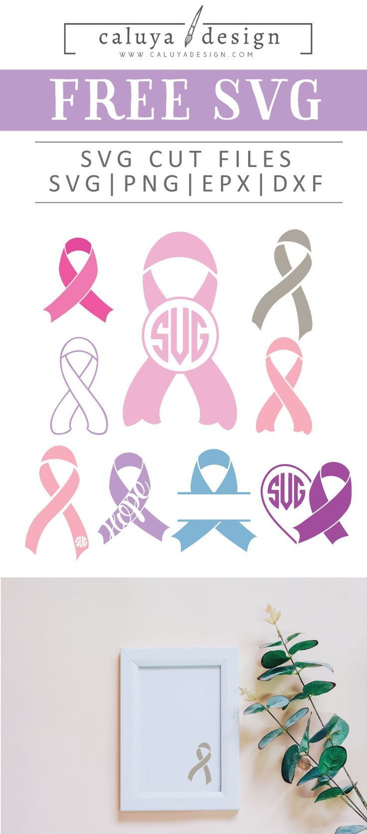 Free Awareness Ribbon Svg Png Eps Dxf By Awareness Ribbons Cricut Monogram Cricut Free
