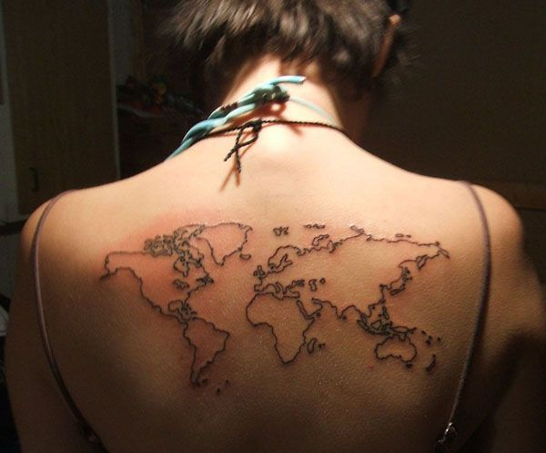 8 best tattoos images on pinterest tattoo ideas world map tattoos 26 world map tattoos with releasing and wandering meanings publicscrutiny Gallery
