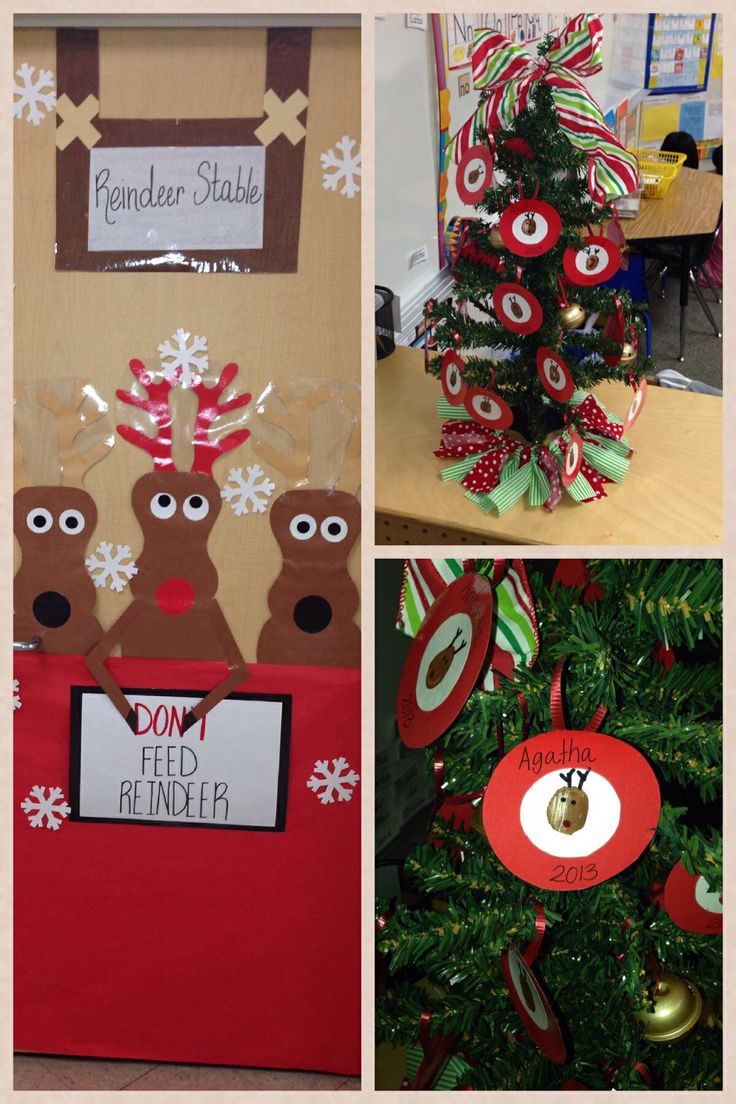 Reindeers Galore Reindeer Stable Classroom Door Reindeer