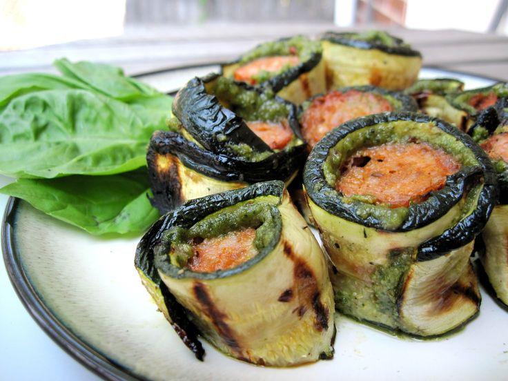 Zucchini Pesto Roll Ups | PaleOMG - Paleo Recipe